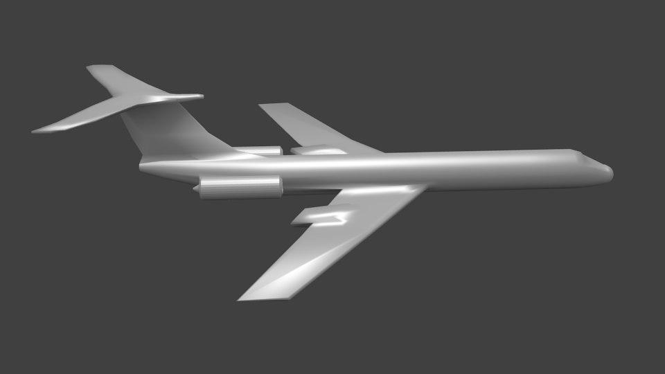 3D tu 134 model
