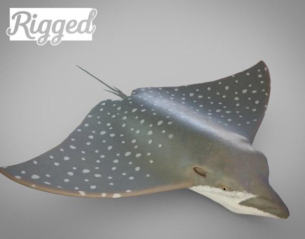 3D stingray fish nature