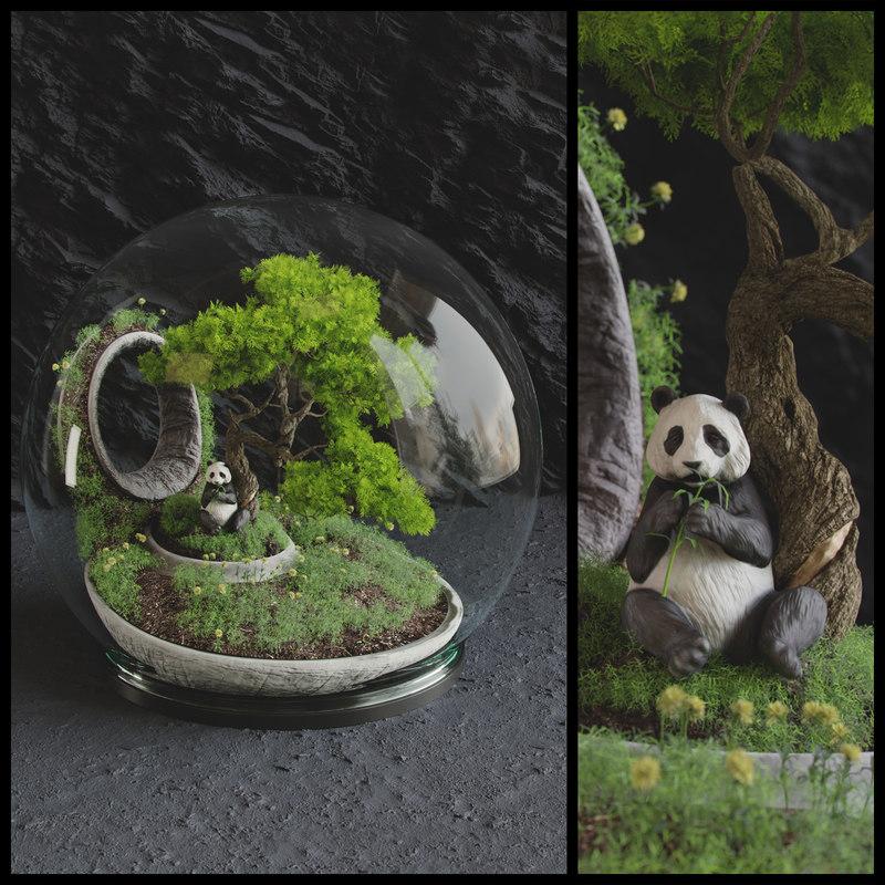 bonsai florarium 3D model