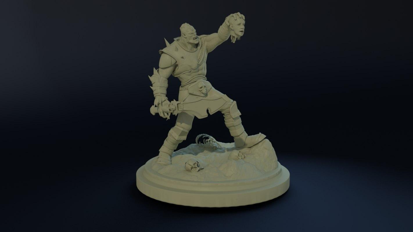 3D evil orc
