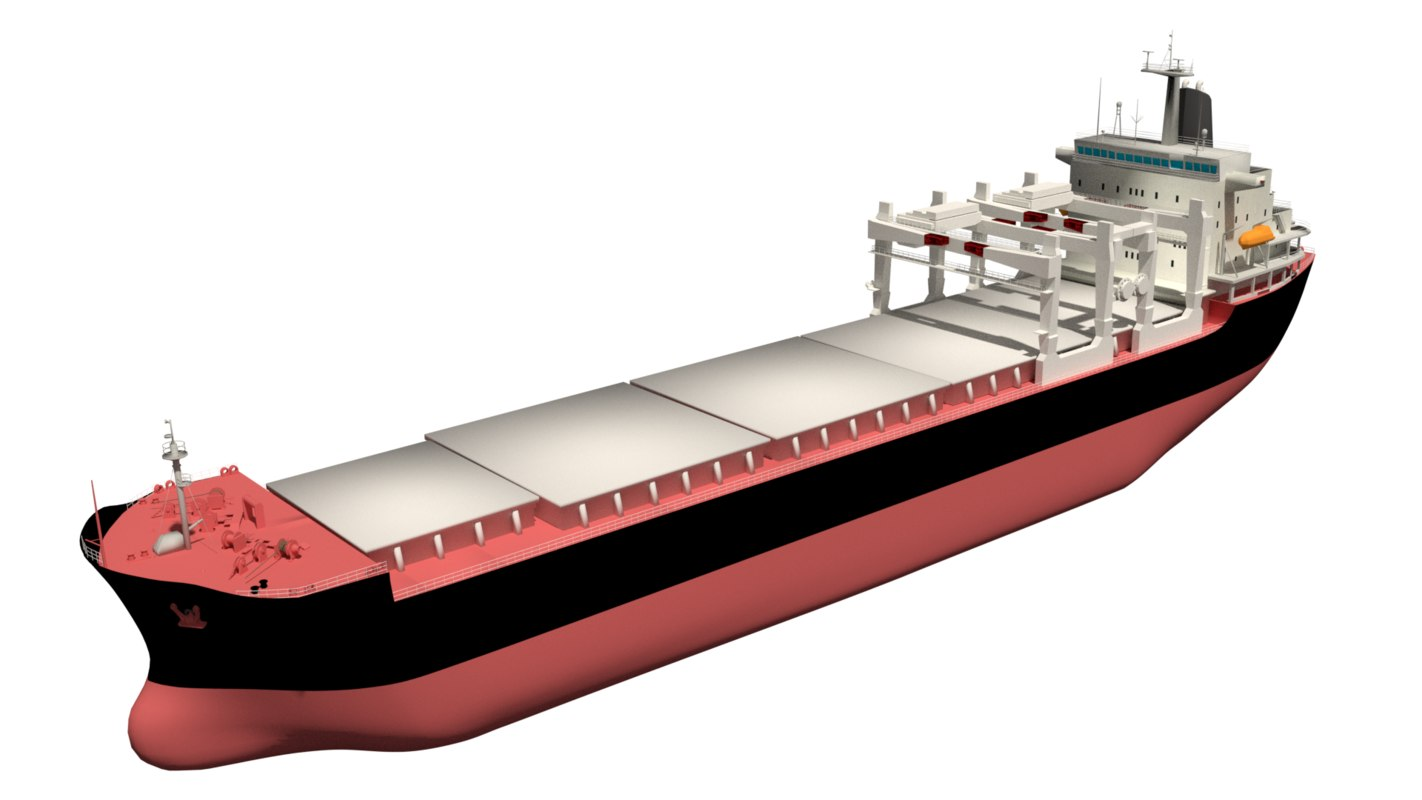 bulk carrier gantry cranes 3D model