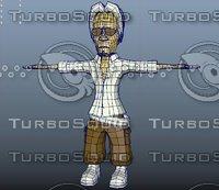 cartoon old age 3D