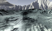 3D games snowy mountain ice model