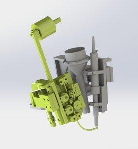 soldering welding mechanism 3D model