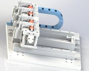 hinge locating mechanism model