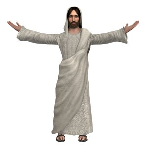 jesus christ rigged real 3D model