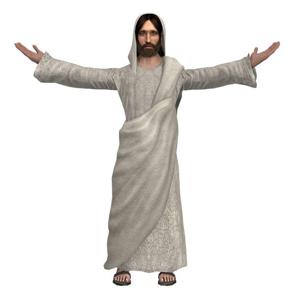 jesus christ rigged real 3D model