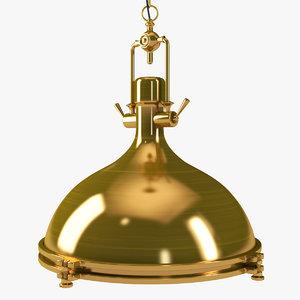 3D retro gold pendant hanging lamp