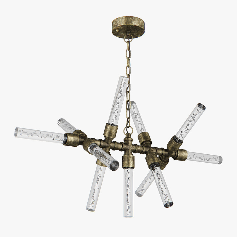 3D chandelier 740112 condetta lightstar model