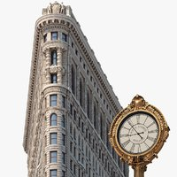 3D flatiron building architecture model