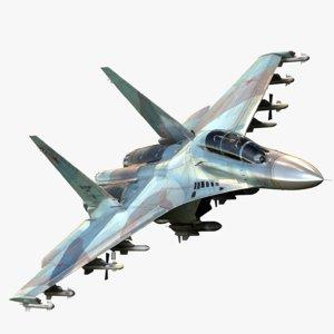 sukhoi su-30 3D