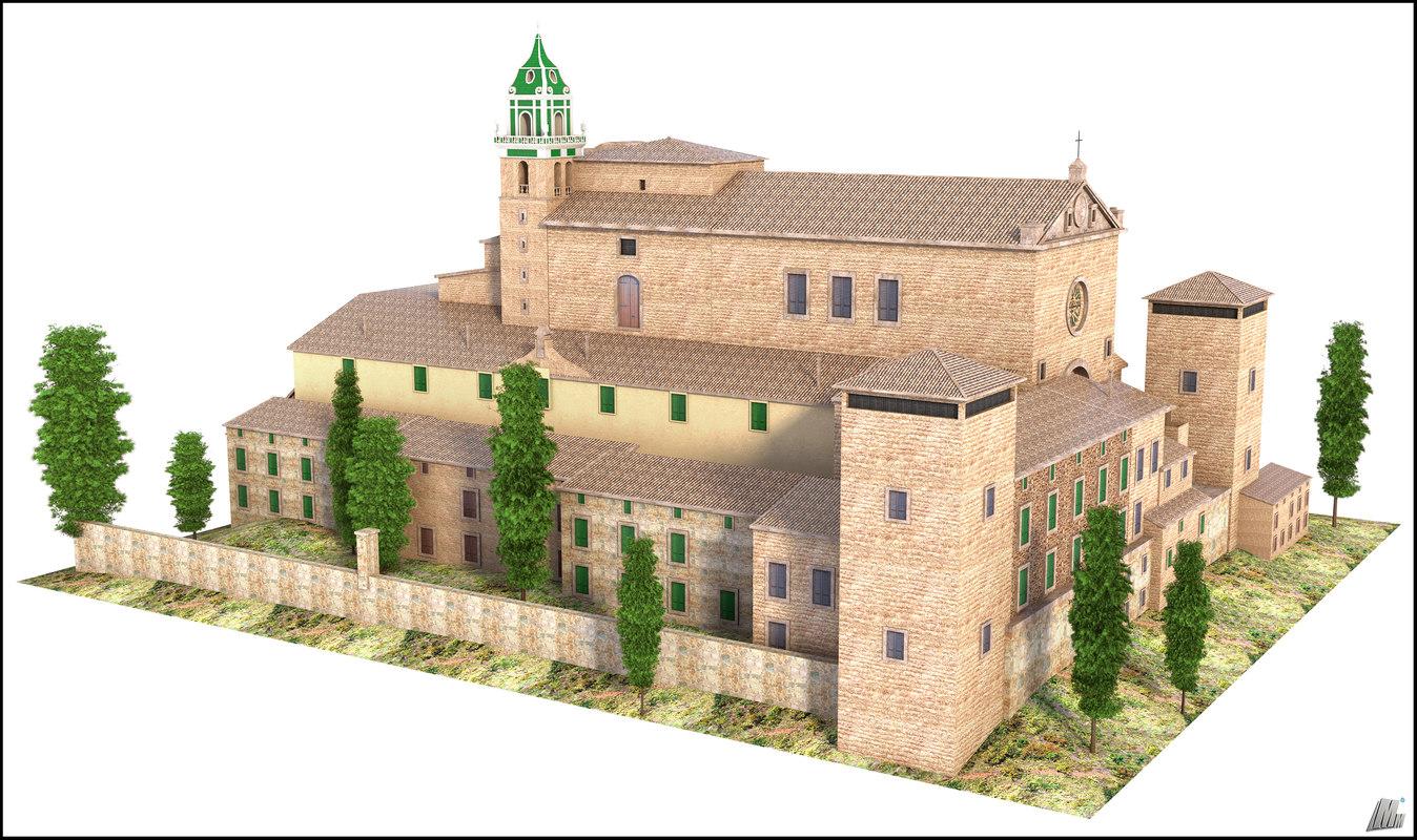 valldemossa mallorca house 3D model