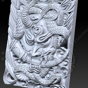 3D snake devil evil