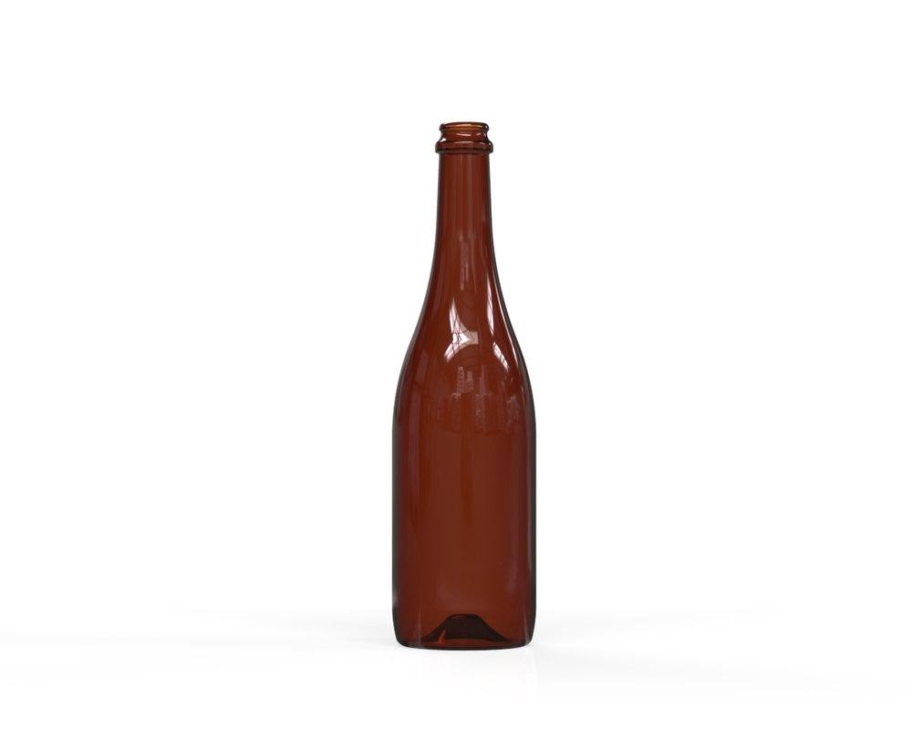 glass bottle 60 3D model