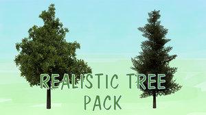 realistic tree pack 3D model