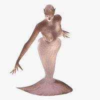 3D model mermaid creature
