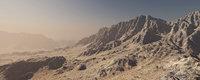 Montains desert terrain