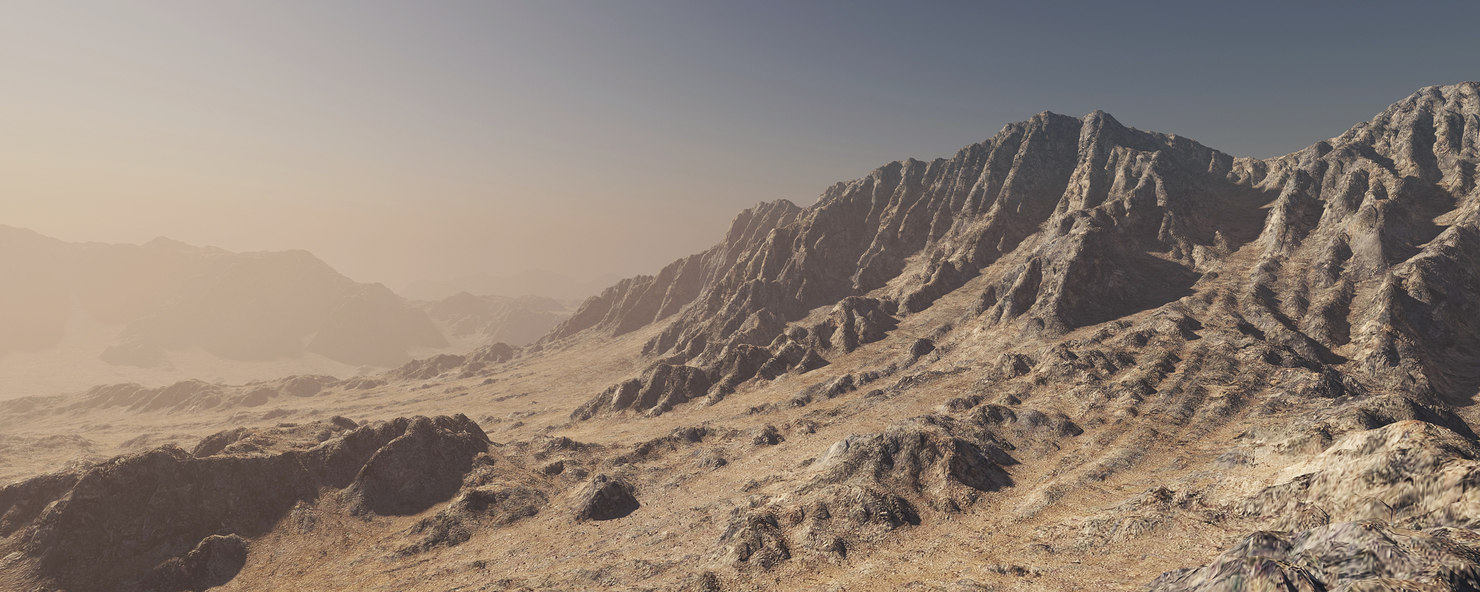 3D terrain mountain landscape model
