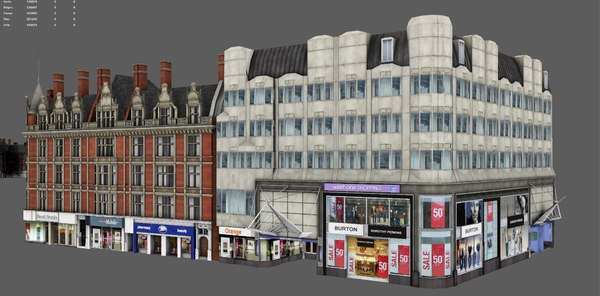 buildings london 3D model