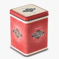 tea tin container decor model