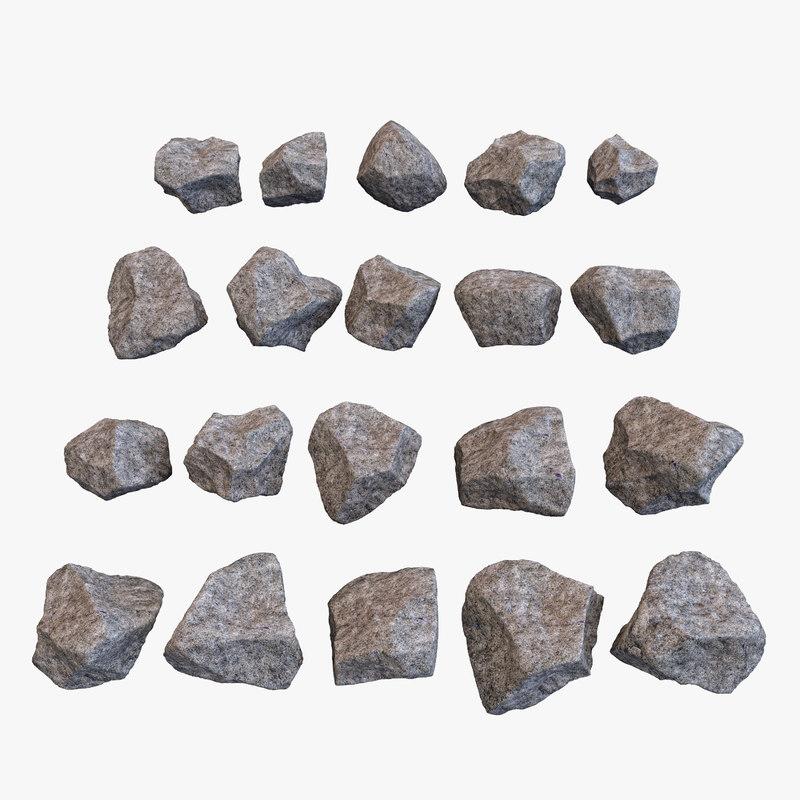 landscape rock stone 3D model