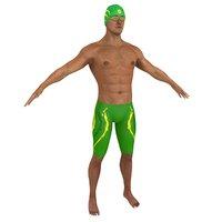 swimmer man 3D model