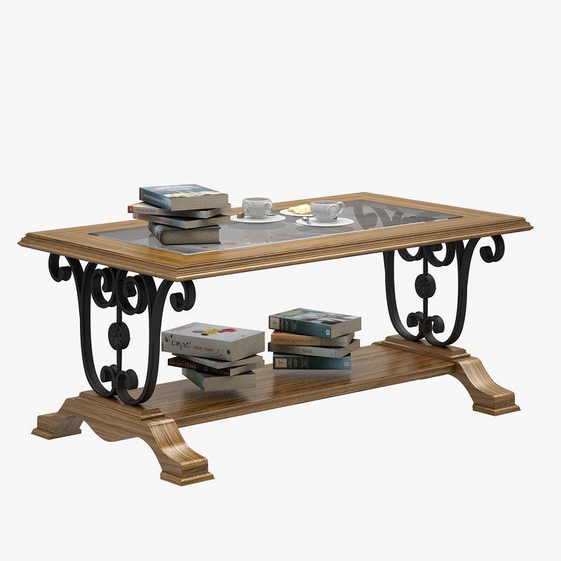 3D table furniture furnishings model