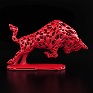 3D bull wireframe v2