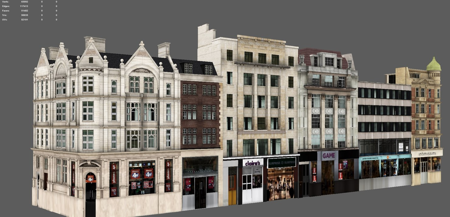 3D buildings london