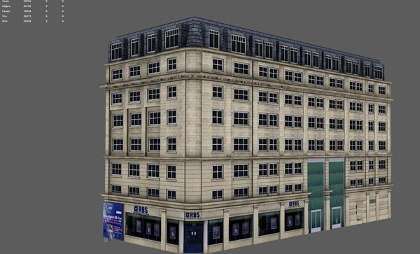 3D buildings london model