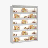 3D gift box shelf