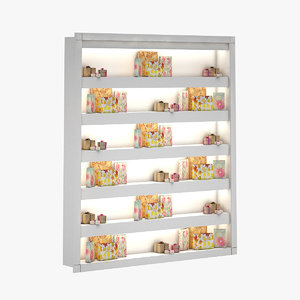 3D gift box shelf