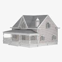 3D model cottage house home