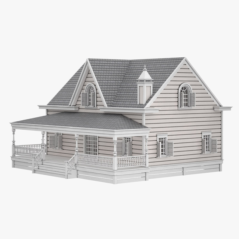 3D model cottage house home