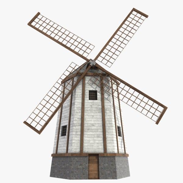 windmill pbr 3D model