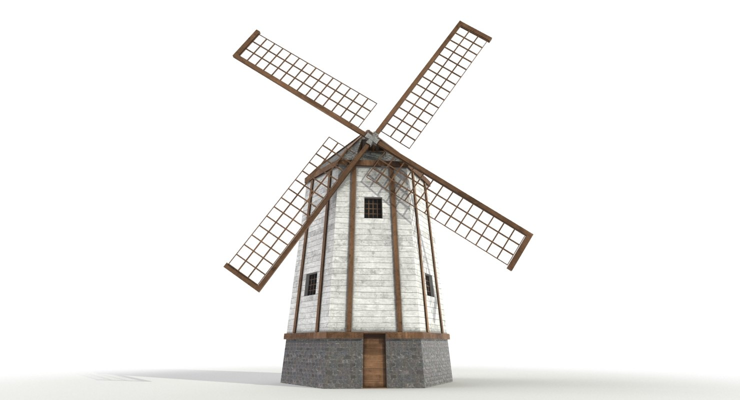 windmill pbr 3D model