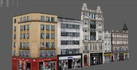 3D buildings london model