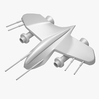 3D spaceship print space