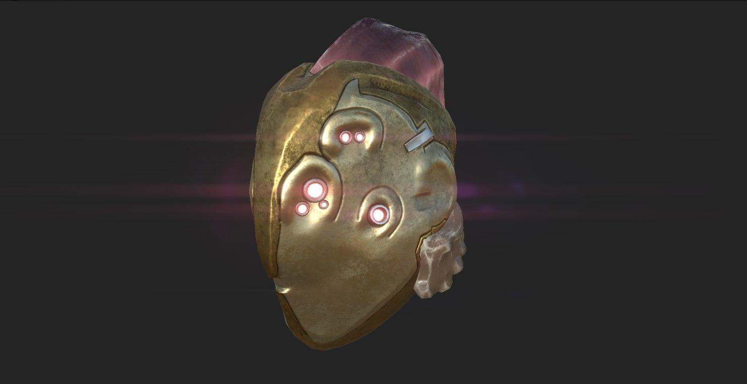 3D helmet pbr crystal