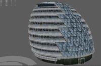 city london hall 3D model