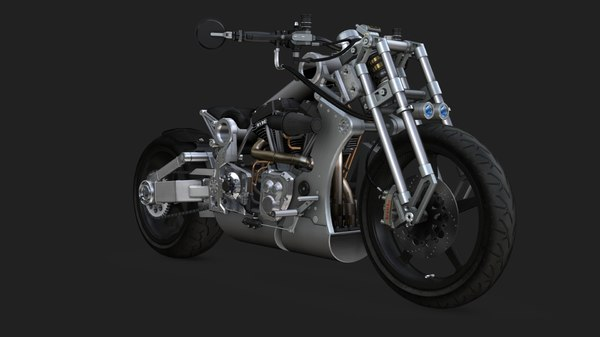 3D motorcycle confederate r131 fighter model