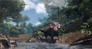 medusaceratops jurassic dinosaur low-poly 3D model