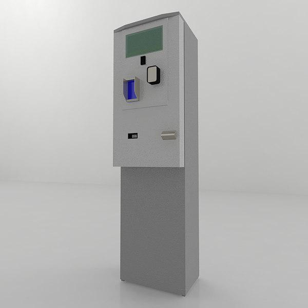 car park pay station 3D model