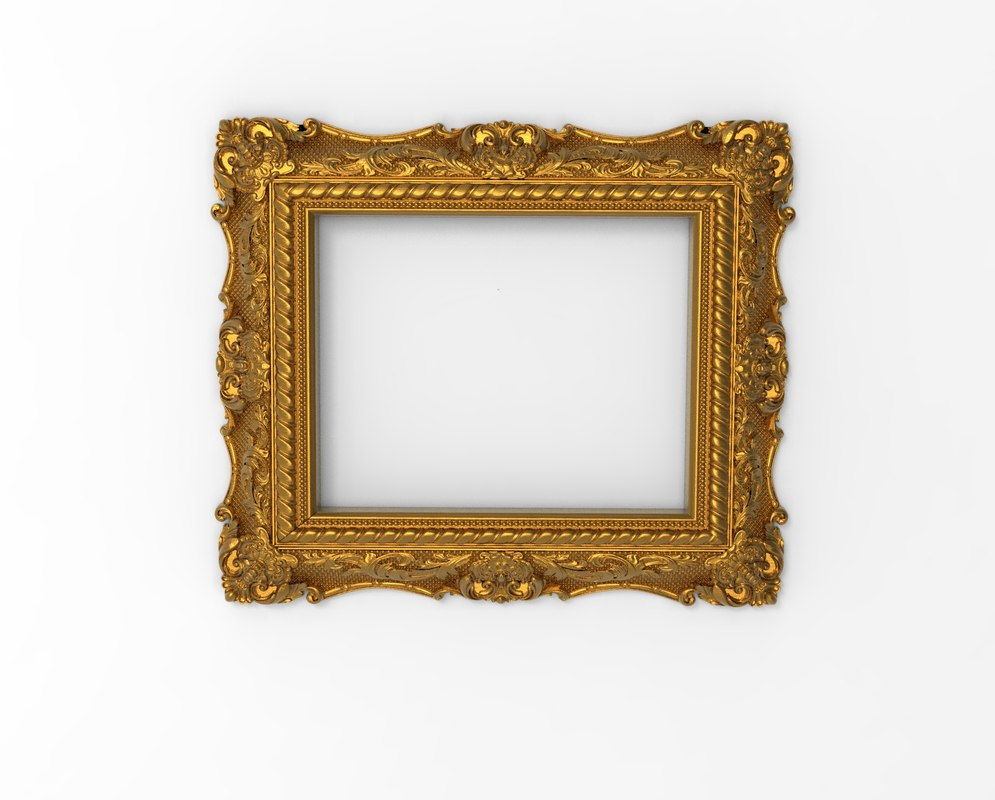3D mirror frame model - TurboSquid 1285425