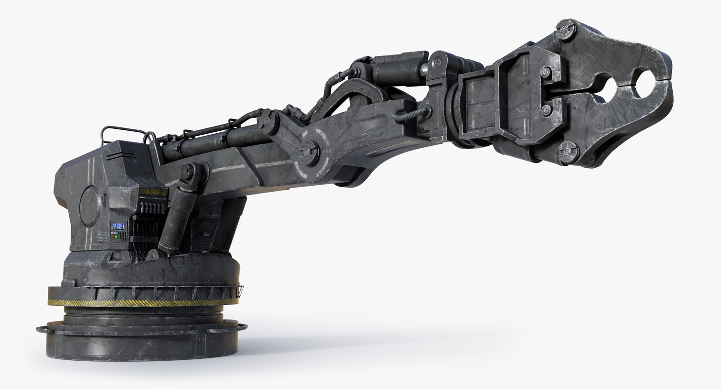 scifi excavator 3D model