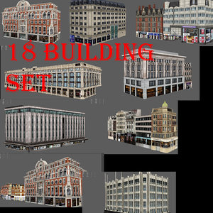 3D london building set