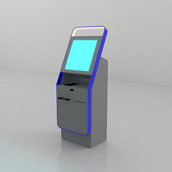 3D self help check-in station model