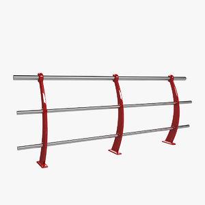 3D model modern handrail