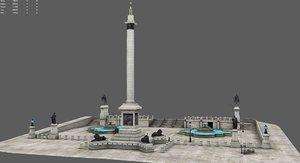 london trafagar square 3D