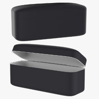 black leather case box 3D model